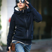 Shocking Show Beautiful Lady Hooded Coat Sweatshirt Jacket Pullover Encase Finger Long Sleeve Hot Sale Tops