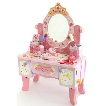 Baby Toys Wood Deluxe Large Dressing Table Child Pretend Play Toy Child  Furniture Toy Christmas gift for girl-in Furniture Toys from Toys & Hobbies  on ...
