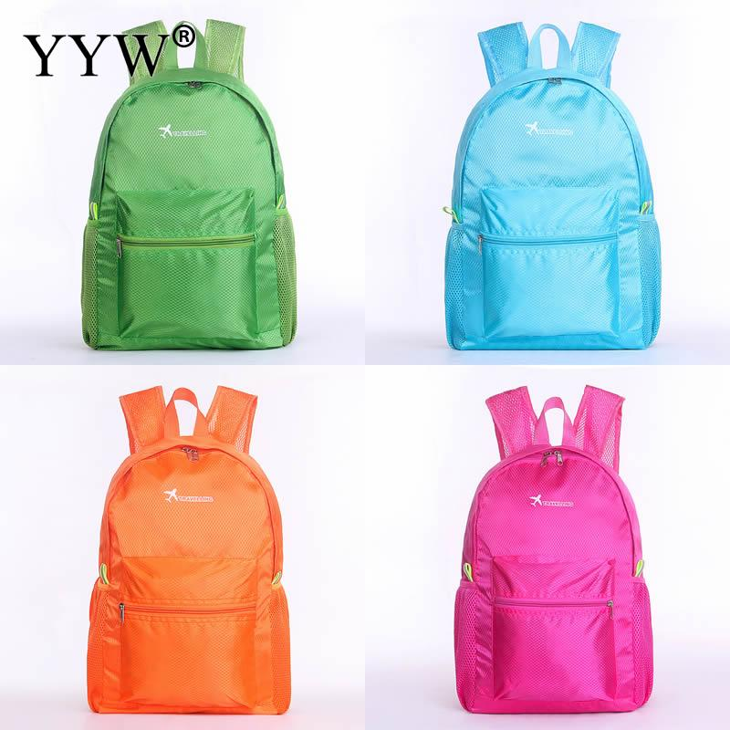 Fashion Sky Blue Nylon Backpack Female Travel Backpacks for Adolescent Girls Women Green Waterproof Casual Small School Bag