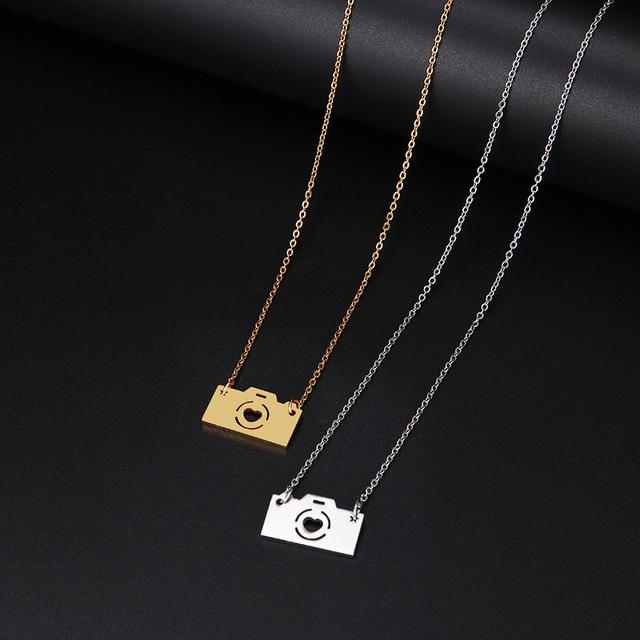 Camera Pendant Necklace