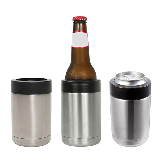 RVS Bierfles Cooler Blik/Fles Houder Dubbelwandig Vacuüm Geïsoleerde Bierfles Koeler Bar accessoires