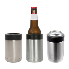 12 OZ Stainless Steel Beer Bottle Cold Keeper Can/Bottle Holder Double Wall Vacuum Insulated Beer Bottle Cooler Bar Accessories(China)