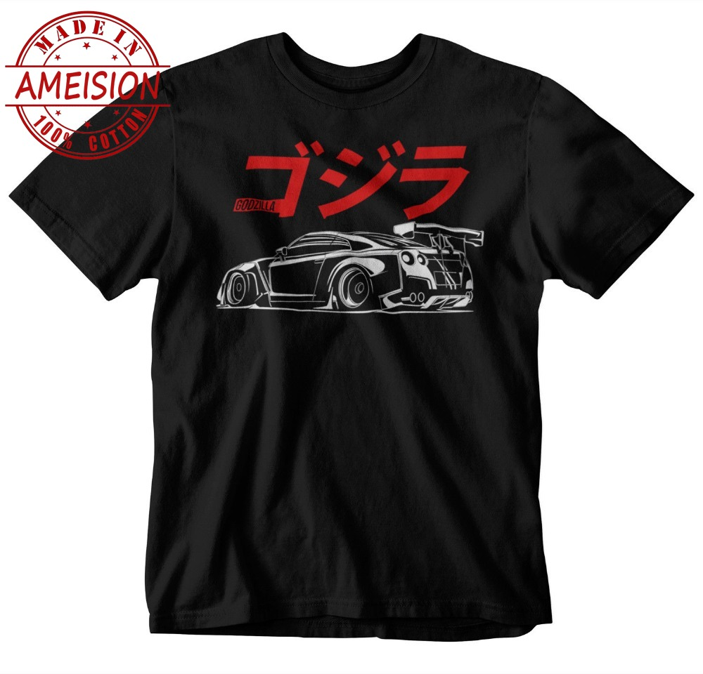 2019 Hot Sale 100 cotton GTR JAPAN T Shirt Black S 3XL JDM Hat New Hoodie Boost Turbo Decal Nismo Tee shirt in T Shirts from Men 39 s Clothing