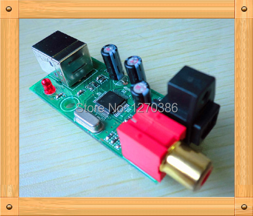 Free Shipping!!! USB Sound USB to coaxial / optical / SPDIF/DTS/AC3 converter board module цена