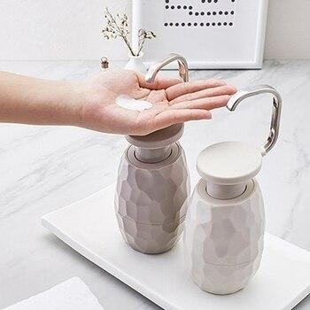 400Ml Creative One-Hand Soap Dispenser Facial Cleanser Shower Gel Bottle Environmentally Friendly For Home Hotel Bathroom