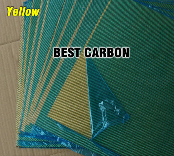 Free shipping 400mm x 500mm Yellow color Carbon Fiber Plate, cf plate , carbon sheet ,carbon panel 2 5mm x 500mm x 500mm 100% carbon fiber plate carbon fiber sheet carbon fiber panel matte surface