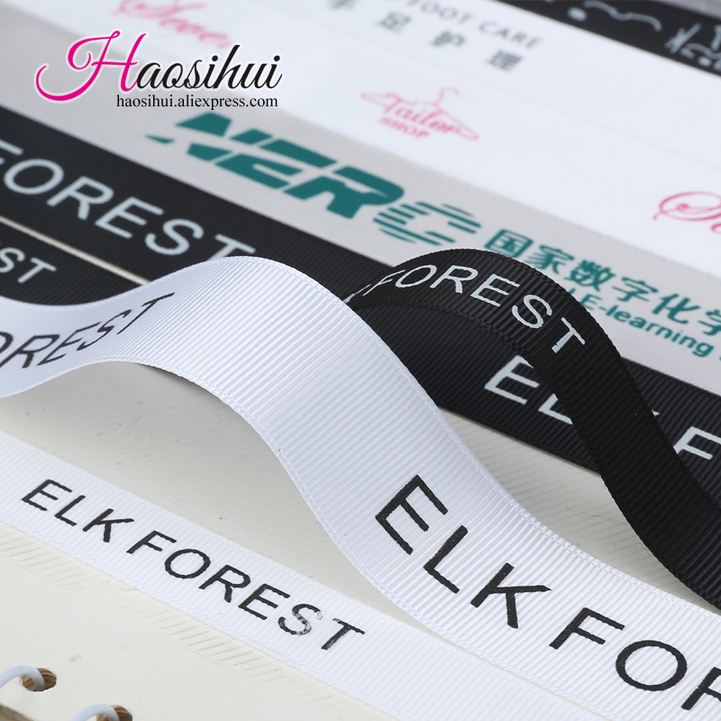 Free design 10mm 75mm cheap personalized and Customized logo ribbon for wedding favours made by grosgrain