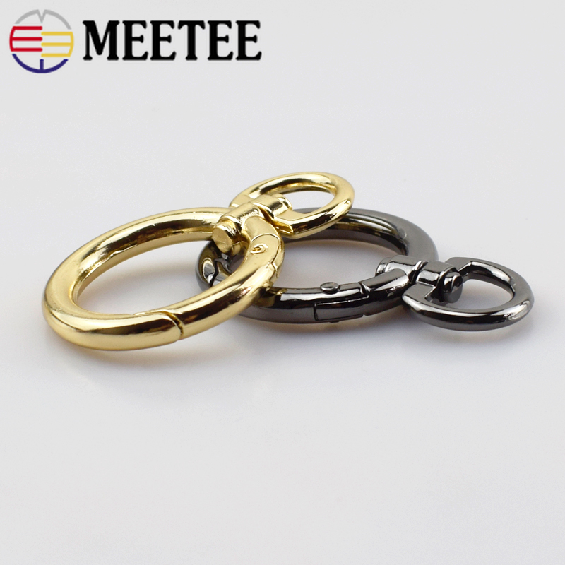 Metal O Rings Buckles Bag Handbag Strap Openable Keyring Dog Chain Buckle Snap Clasp Clip Trigger DIY Leather Craft F1 7 in Buckles Hooks from Home Garden
