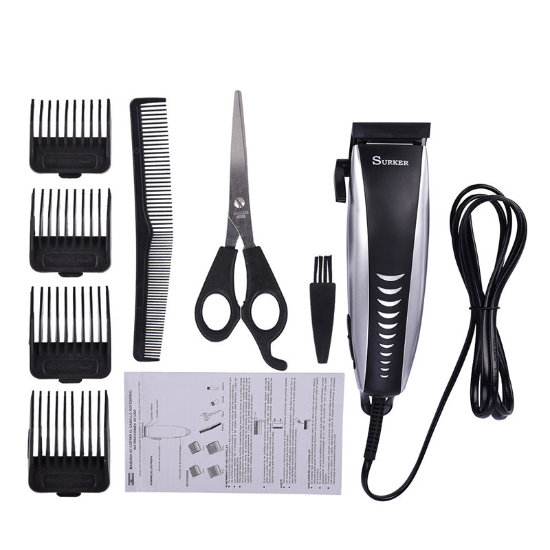 Professional Rechargeable Hair Clipper Men Hair Trimmer Shaver Razor Stainless Steel Blade Clipper Electric Haircutting Machine extra battery titanium steel blade rechargeable electric shaver hair clipper trimmer professional cutter men hair beard razor