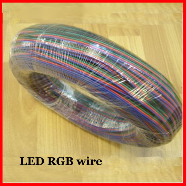 Free shipping 200M/lot 4pin RGB cable wire for LED RGB strip light extension cord wires lighting accessories by DHL