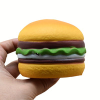 Bread Decompression Toy Heart Cute And Soft Hamburger Fun Healing Scented Slow Rising Exquisite Kid Soft Toy сквиши антистресс