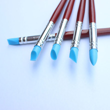 Soft Silicone Rubber Pen For Clay Sculpture Tools to Remove Fingerprint 5pcs set Small