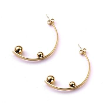 35dfad1469b1 316L de acero inoxidable pendientes para mujer chapado en oro europea largo  aretes de moda de mujer pendiente de regalo de la joyería