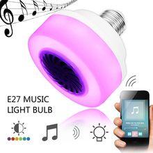 100-240V Bluetooth Music Light Bulb LED Lamp Smart Wireless