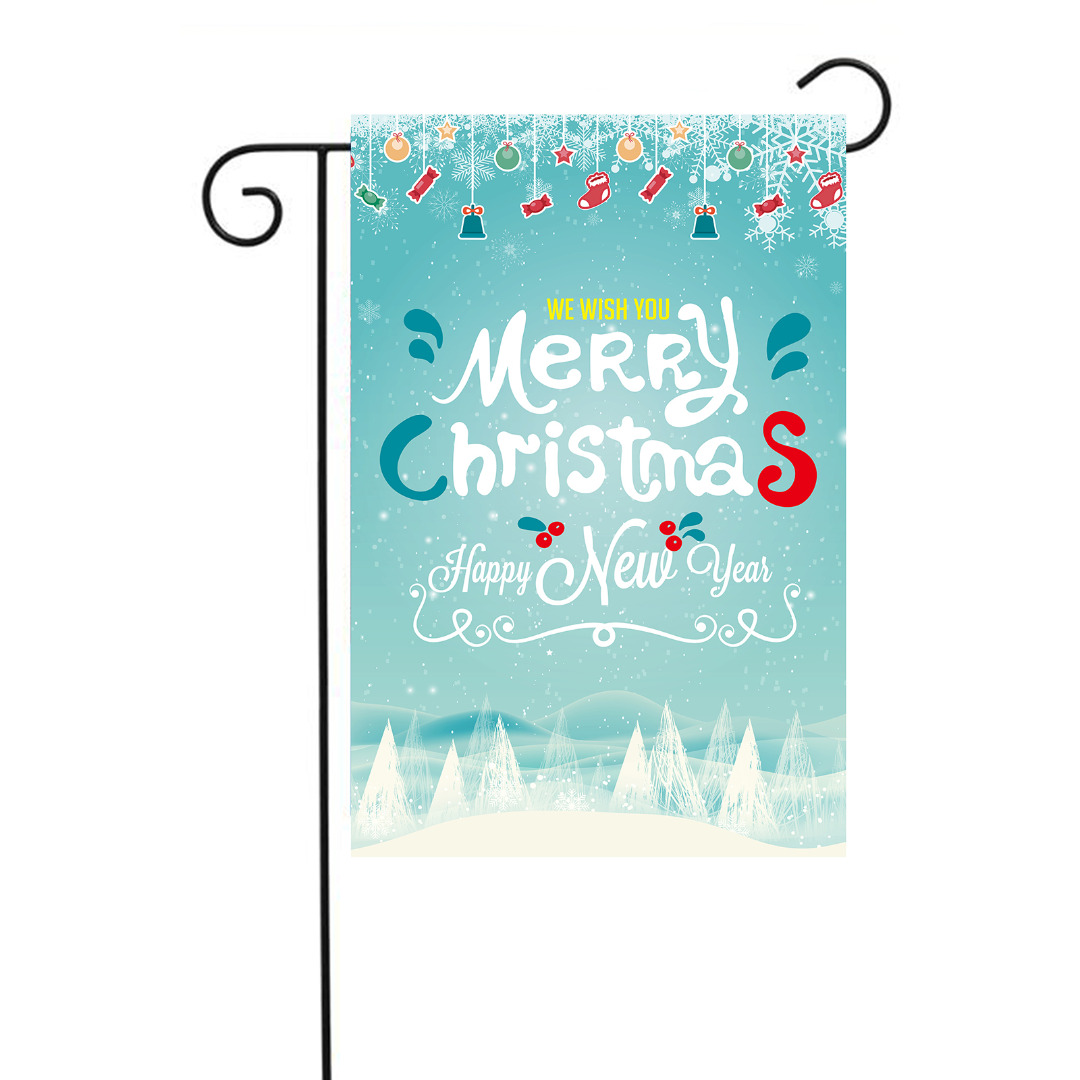 detail feedback questions about polyester merry christmas decorative garden flag happy new year festival yard banner diy for party hanging craft 3045cm on