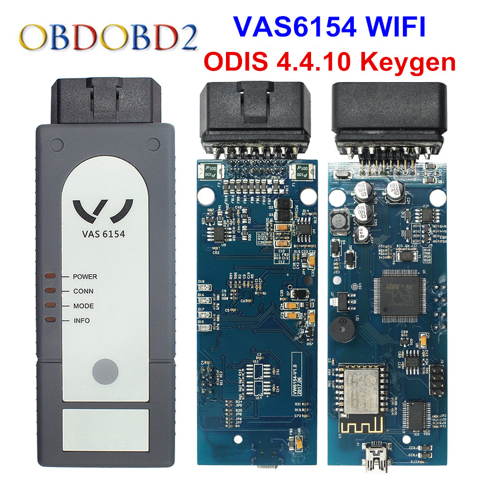 D'origine OKI VAS 5054A ODIS V4.4.1 Keygen Bluetooth AMB2300 VAS 6154 WIFI VAS5054A Plein Puce VAS5054 UDS Pour VAG Diagnostic outil