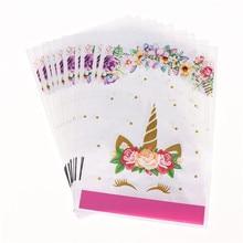 10pcs Set Gift Bag Pink Eyelash Unicorn Baby Shower Party Kids Favors Birthday Decoration Christmas