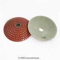 "SHDIATOOL 2 pcs 4 ""Grit 50 Diâmetro da bacia em forma de diamante molhado almofadas de polimento convexo 100 milímetros mármore disco de lixar granito cerâmico|diamond polishing pads|polishing pad|diamond polishing -"
