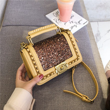Female Crossbody Tote Bag Women 2019 High Quality Leather Luxury Handbags Designer Sac Main Ladies Sequin Shoulder Messenger Bag