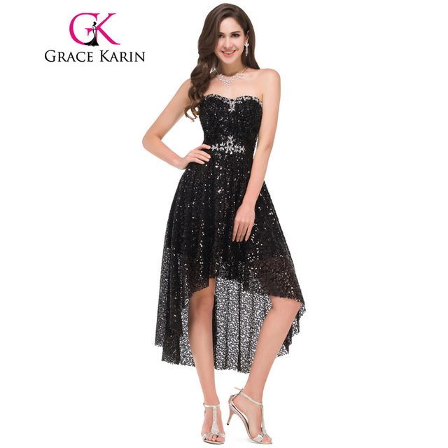 Grace Karin Short Front Long Back Prom Dress Elegant Sweetheart ...
