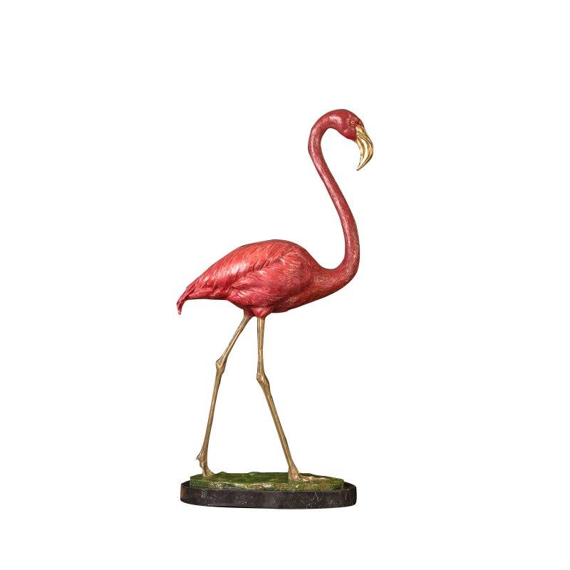 Античный металлический арт Бронзовый Фламинго Статуэтка скульптура для продажи