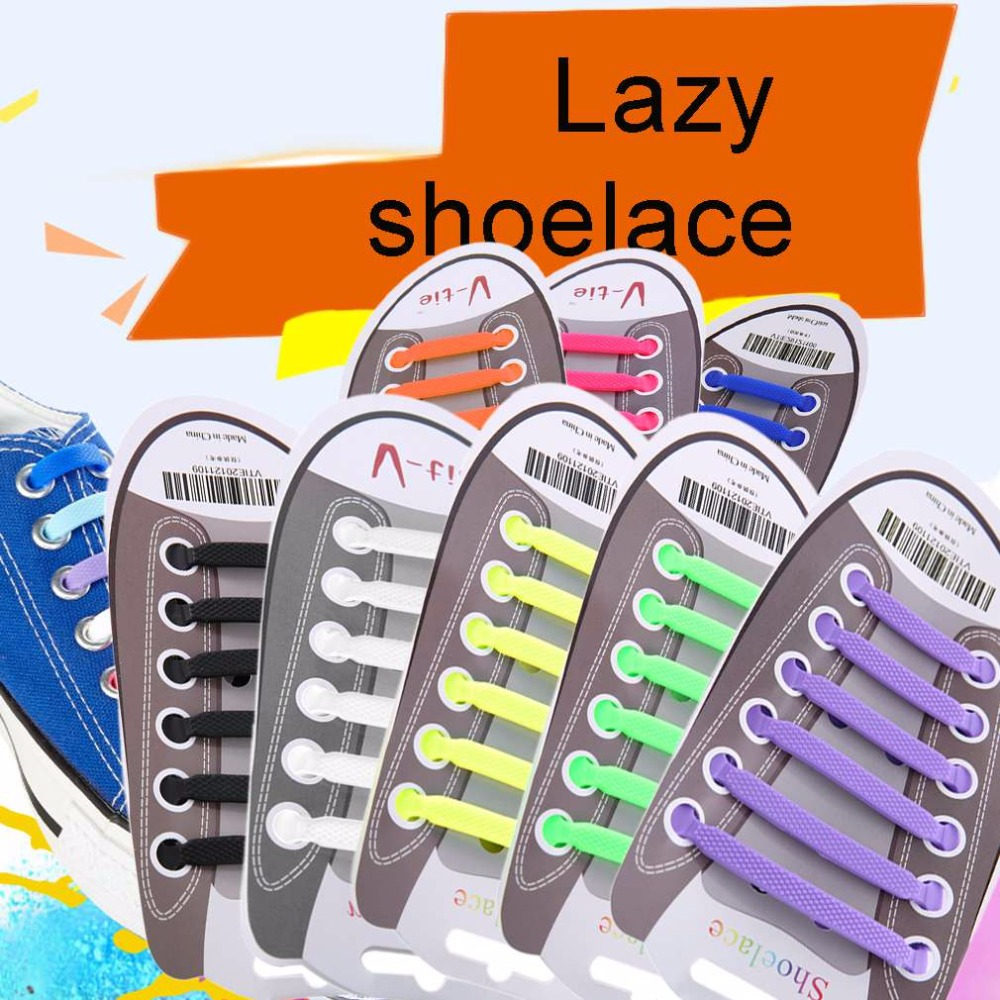 Men lazy shoelace 12pcs/set Practical Women No Tie Shoelaces Elastic Silicone Shoe Lace Suitable For All Sneakers  flat shoelace 16pcs set high quality innovation lazy elastic silicone lace men and women universal free shoes with all the shoes th xdy