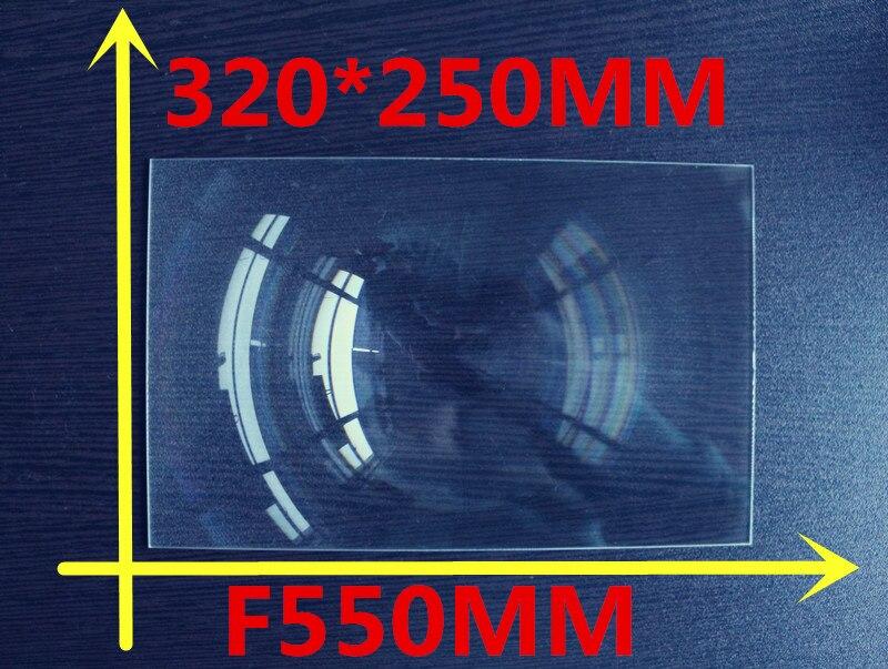 1 pcs/lot grande taille 320*250 MM Rectangle bricolage projecteur Fresnel lentille focale 550mm lentille haute concentrée livraison gratuite