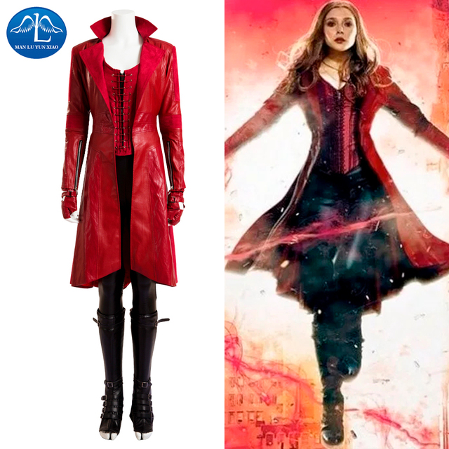 MANLUYUNXIAO Scarlet Witch Cosplay Costume Avengers Age of Ultron ...