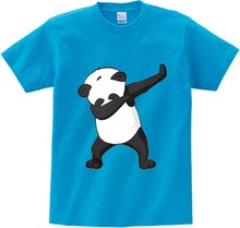 Cotton Boys Summer Tops Tee Dab Panda Dog Children funny T shirt Dabbing Dance T-shirt For Kids Girls Celebrations Tshirt YUDIE