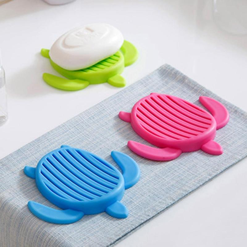 Plastic Tortoise Shaped Soap Dishes Soap Holder Cups