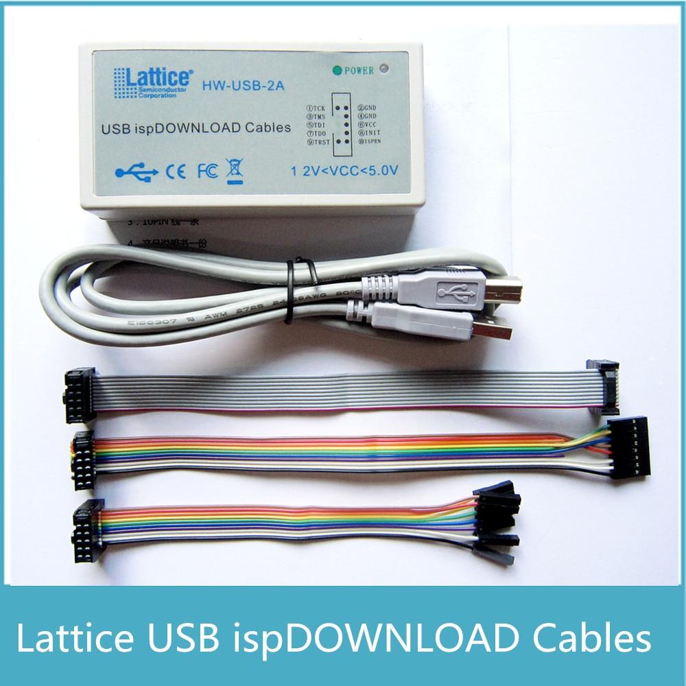 USB IspสายJTAG SPIโปรแกรมเมอร์สำหรับLATTICE FPGA CPLDคณะ