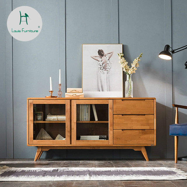 Superior Louis Fashion Living Room Cabinets Nordic Minimalist Modern Japanese  Furniture Solid Wood Cabinets Two Cupboards