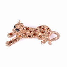 Здесь можно купить  BEADSLAND Puma Crystal Brooch Fashionable Jewelry Clothing Accessary Women Gift