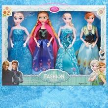 Ice and snow odd doll girl toy Aisha Barbie doll four suit Anna Aisha princess toy children