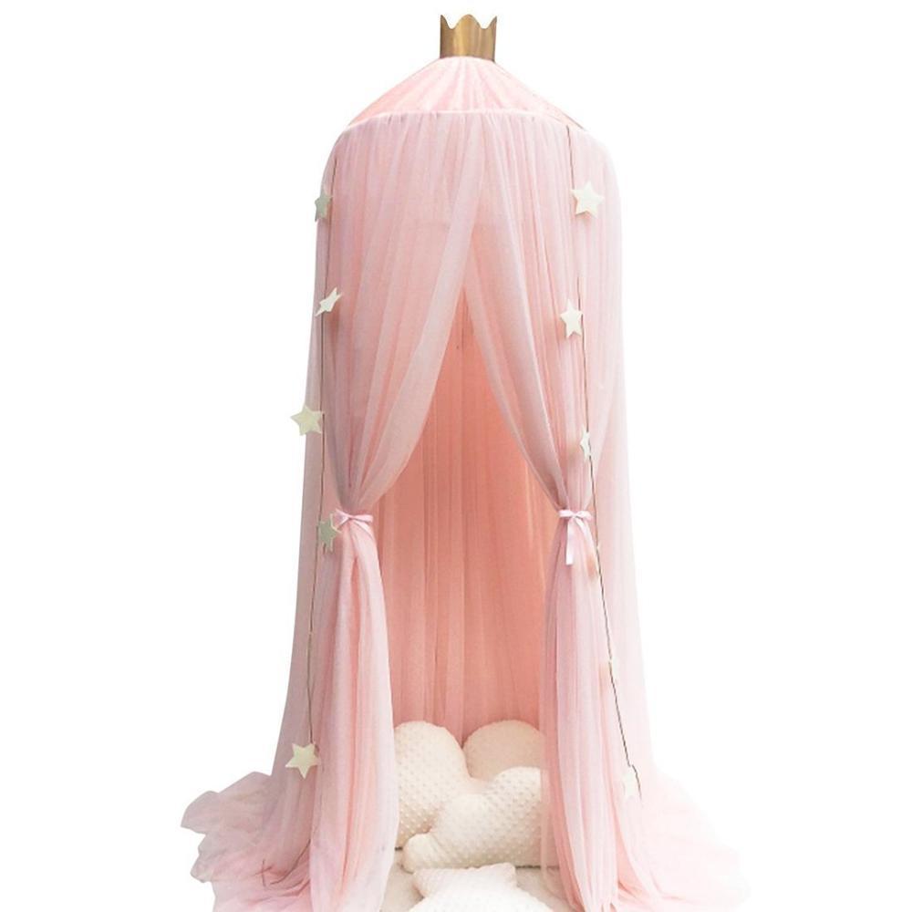 10 слоев 3 цвета розовый серый и белый марлевые Дети Москитная сетка кровать для принцессы балдахин купольная сетка - Цвет: white 10 layers
