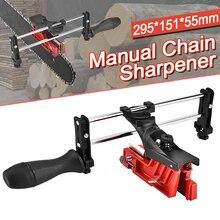 Apontador de corrente para motosserra, afiador de corrente manual de 295*151*55mm, ferramenta guia de enchimento de barra