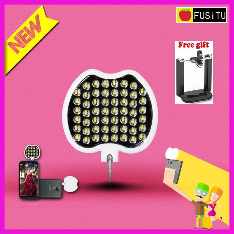 Fusitu футо-54 яркий мобильный телефон ручной Мини Портативный 54 Светодиодный прожектор Selfie Flash свет ...