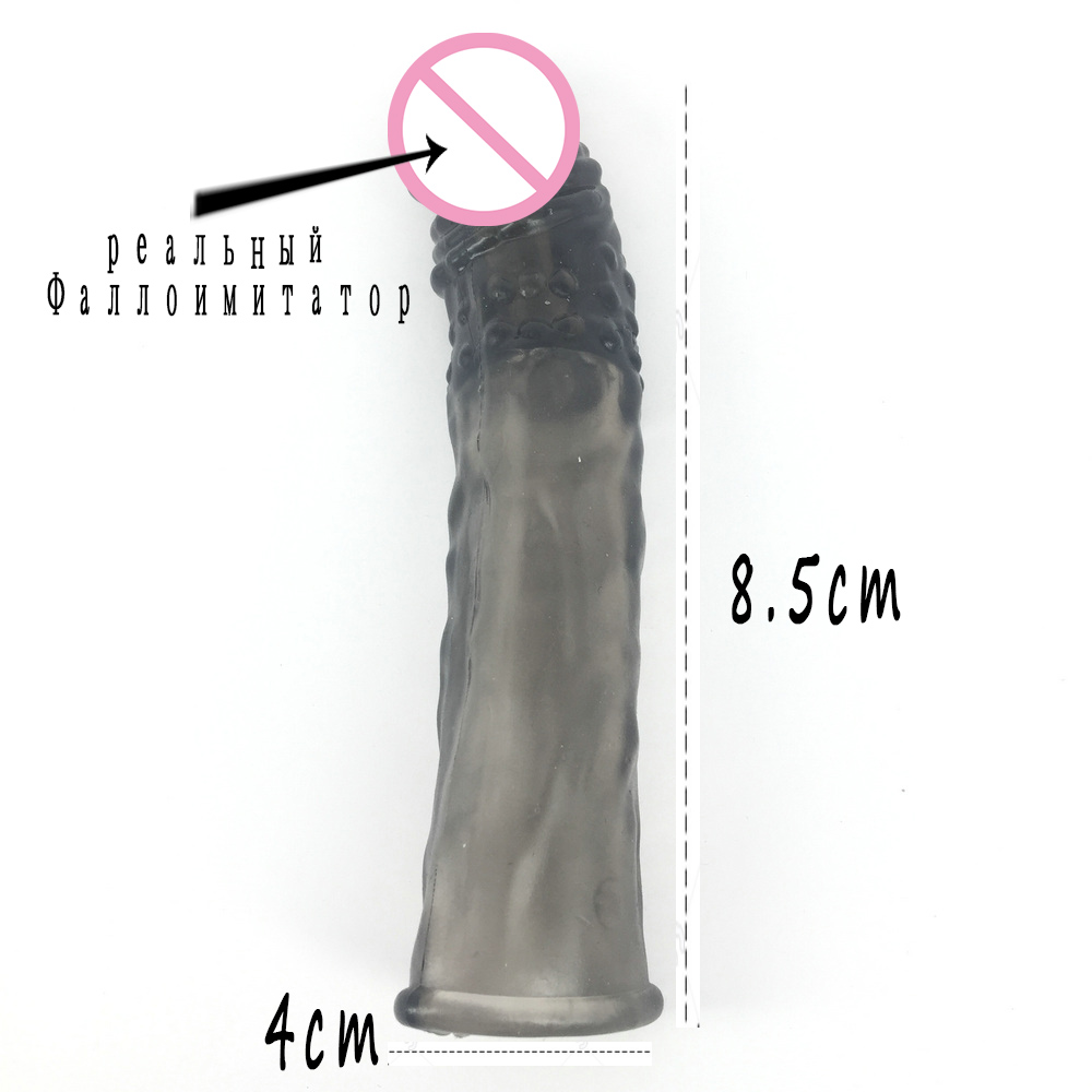 1PC men sex toy Increase The Length of Male Toys Play Props Set Random Color 18 * 3.8cm