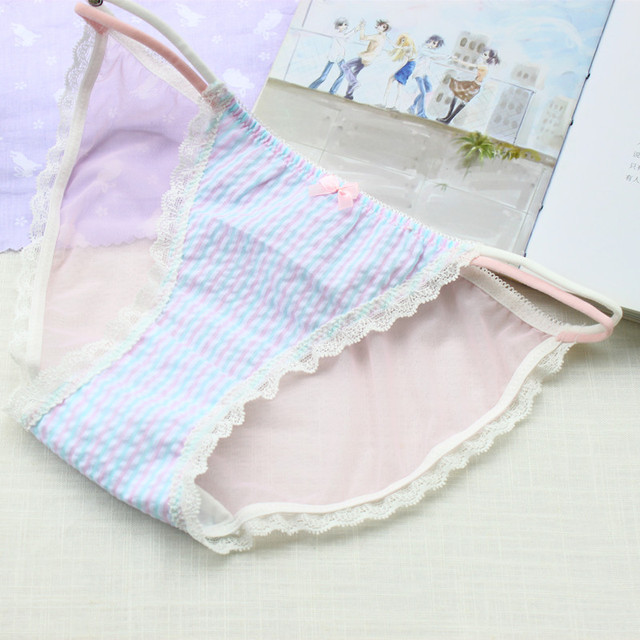 new spring and summer Japanese woman sexy lace underwear underwear cotton  transparent string calcinha tanga sexy panties thong 738a71800