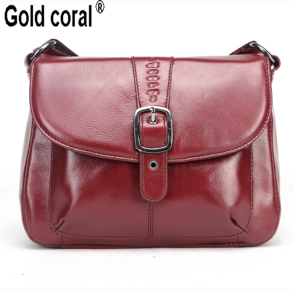 Famous brand genuine leather Ladies messenger bags with high quality small real