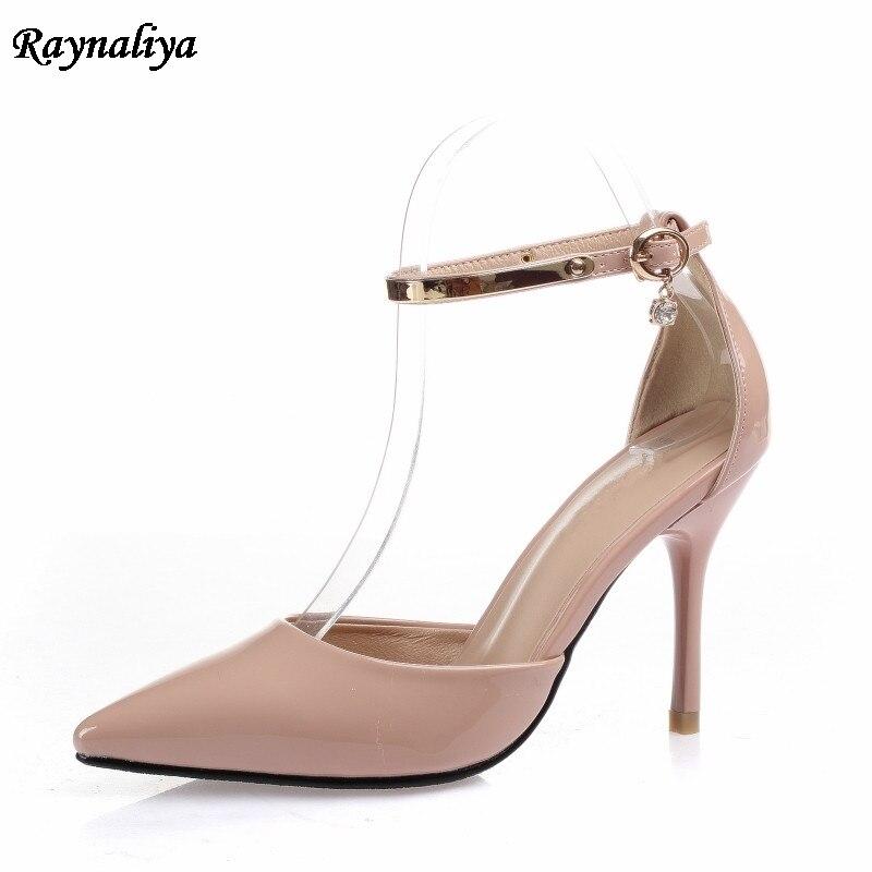 Klassische Neu Kommen Pumpen Spitz Hochzeit Schuhe Braut Thin High Heel Sandalen Frauen Elegante Sommer Schuhe Große Größe XZL-B0038