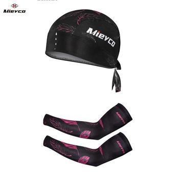 Alta qualidade Ciclismo Arm Sleeve Proteção Solar Mangas Correndo Basketball Arm Warmer Headbands Ciclismo Cap fit Camisa de Ciclismo