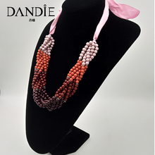 Dandie Colorful Acrylic Bead Necklace, Fashion Jewelry Necklace For Women Jewelry dandie black acrylic bead fashion necklace jewelry short statement necklace