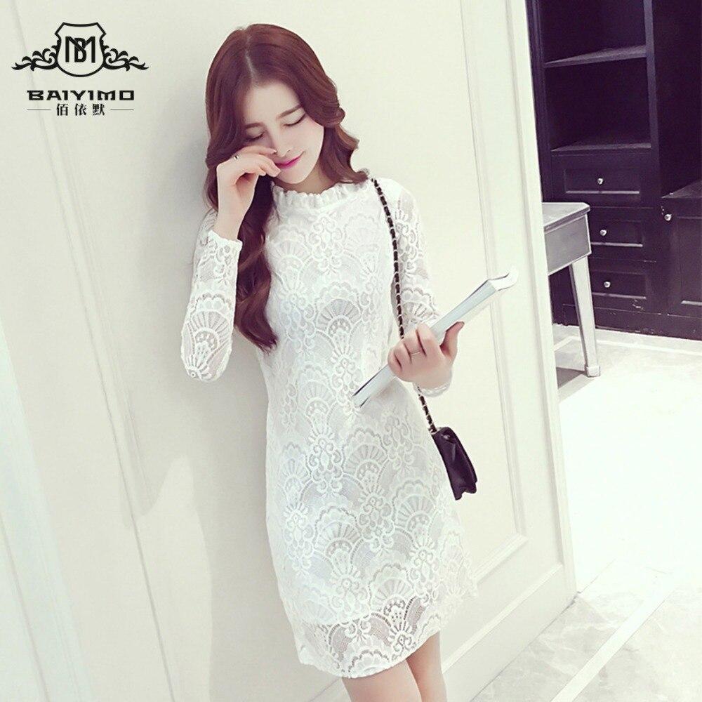 2016 Autumn Dress Kpop Temperament Thin In The Long Section Crochet