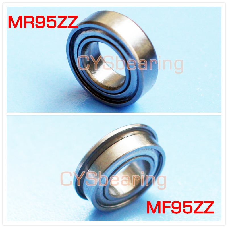 5Pcs 950ZZ Dual Metal Shields Deep Groove Ball Bearing 5mm x 9mm x 3mm