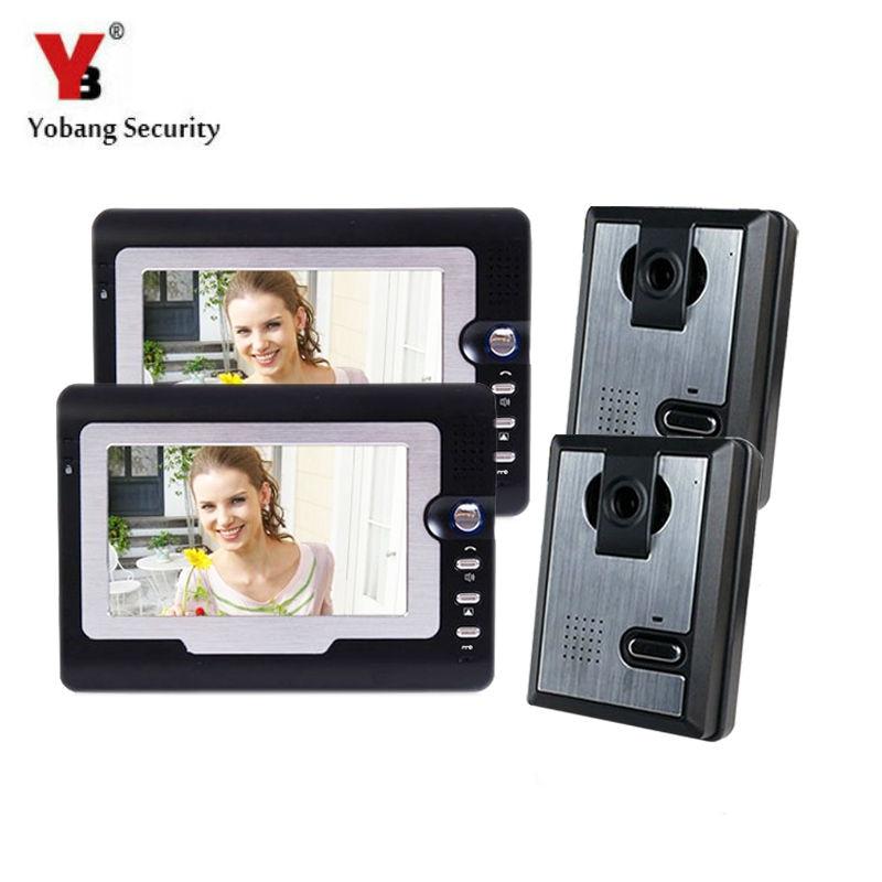 Yobang Security free ship 7 Video Doorbell Camera Video Intercom System Rainproof  Video Door Camera Home Security TFT Monitor