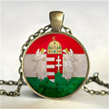 Hungary Jewelry Budapest Necklace Flag Pendant Hungary Necklace Hungary Flag Necklaces Pendants