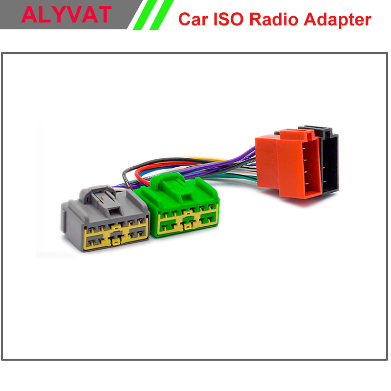 Car ISO Stereo Adapter Connector For Volvo 1998 2010 select models Wiring Harness Auto Radio Adaptor