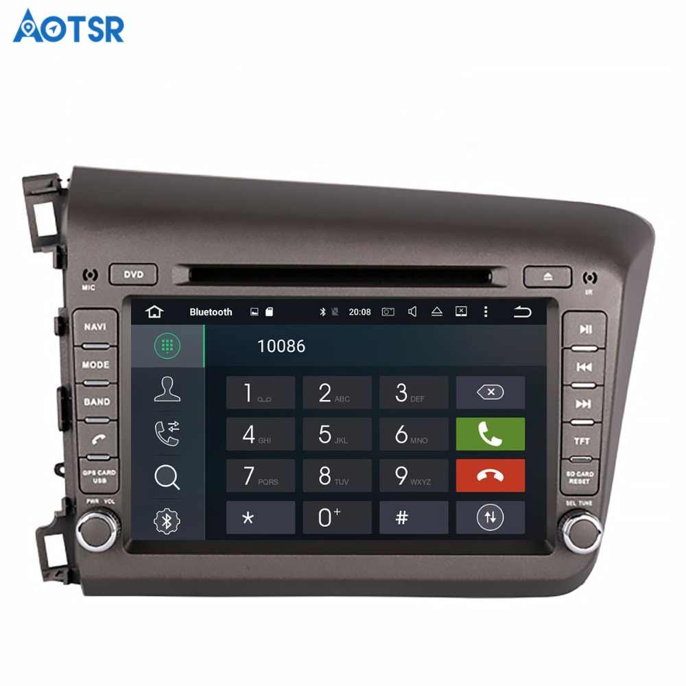 Aotsr الروبوت 8.1 GPS والملاحة سيارة مشغل ديفيدي لهوندا سيفيك اليسار 2012 2013 الوسائط المتعددة 2 الدين راديو مسجل 4 جيجابايت + 32 جيجابايت 2 جيجابايت + 16 جيجابايت