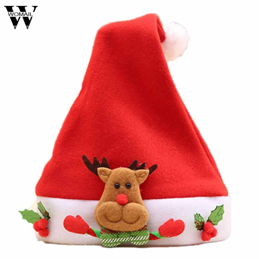 2017 Christmas Elk Red Hat Cozy Soft Warm Children Santa  Headgear цена и фото